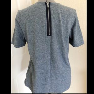 zipper back chambray shirt // Gap